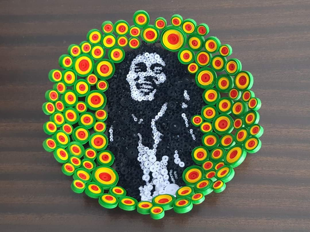 Bob Marley quilled paper bowl
