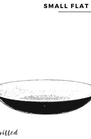 Small flat bowl style