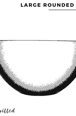 Large rounded bowl